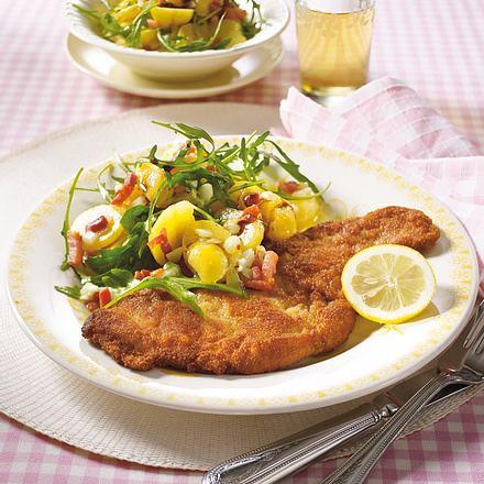 Schnitzel zu Rucola-Kartoffel-Salat Rezept
