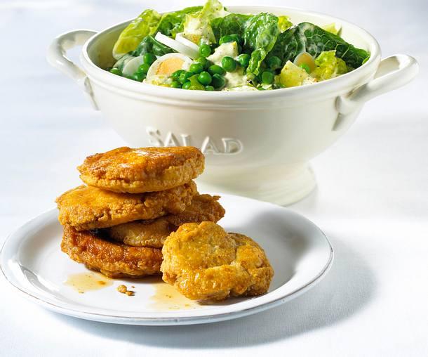 Schnitzelchen mit Caesar Salat Rezept