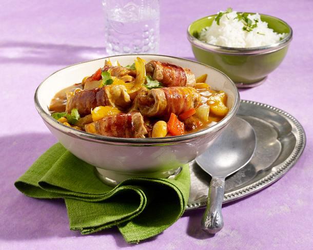 Schnitzelröllchen Bombay Rezept