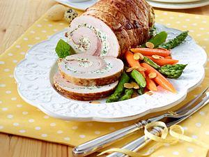 Schnitzelrollbraten mit Bresso-Füllung Rezept