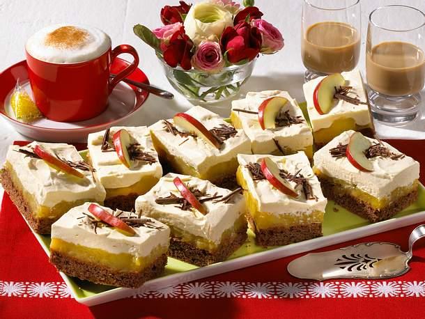 Schoko-Apfelkuchen mit Baileys-Sahne Rezept