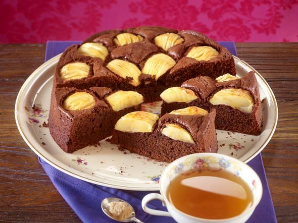 Schoko-Apfelkuchen mit Gewürzen Rezept