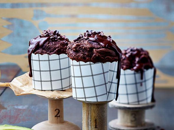 Schoko-Avocado-Muffins mit Kakao-Nibs Rezept