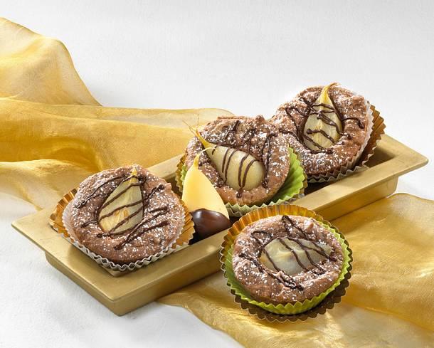 Schoko-Birnen-Muffins Rezept