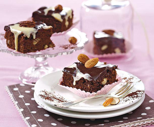 Schoko-Brownies mit Schokoguss Rezept