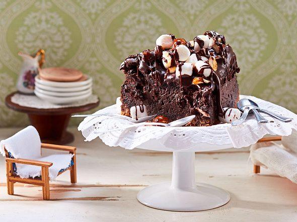 Schoko-Cheesecake mit Marshmallows Rezept
