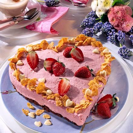 Schoko-Crossieherz mit Erdbeer-Vanille-Creme Rezept