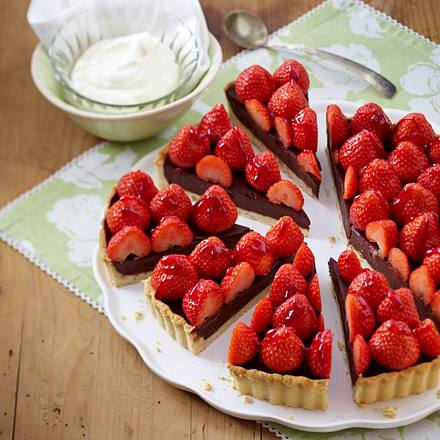 Schoko-Erdbeer-Tarte Rezept