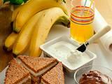 Schoko-Käse-Brot mit Banane Rezept