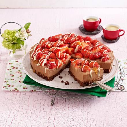 schoko k sekuchen mit erdbeeren rezept chefkoch rezepte auf kochen backen und. Black Bedroom Furniture Sets. Home Design Ideas