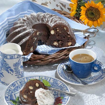 Schoko-Kaffeekuchen mit Mandeln Rezept