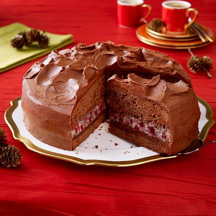 Schoko-Mohn-Torte mit Mokka-Ganache Rezept | LECKER
