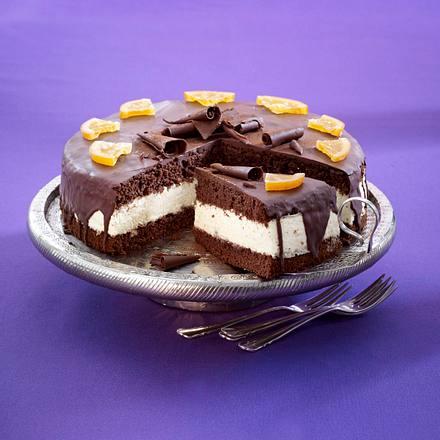 Schoko Orangen Torte Rezept Lecker