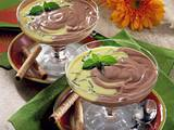 Schoko-Rum-Creme mit Vanillesoße Rezept