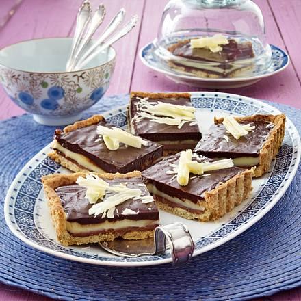 schoko schicht tarte mit n ssen rezept chefkoch rezepte auf kochen backen und. Black Bedroom Furniture Sets. Home Design Ideas