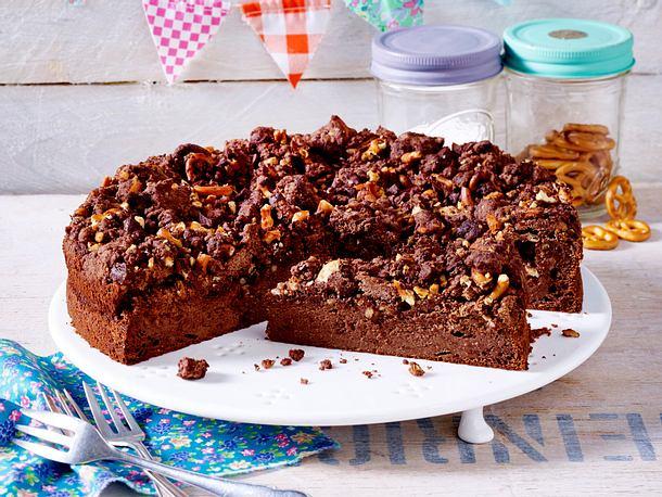 Schoko-Cheesecake mit Brezelcrunch Rezept