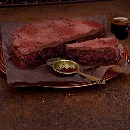 Schokobiskuit-Torte mit Canache-Creme Rezept