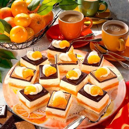 Schokokeks-Kuchen mit Mandarinen Rezept