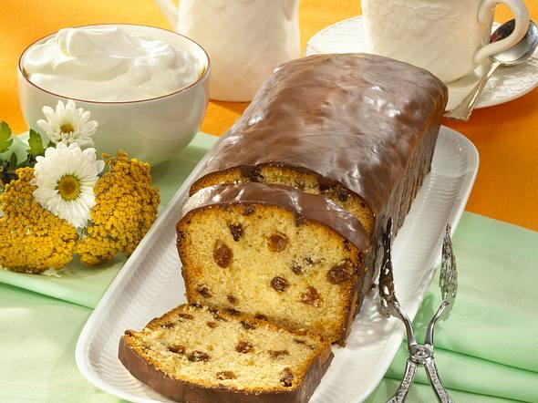 Schokolade-Kastenkuchen mit Rosinen (Diabetiker) Rezept
