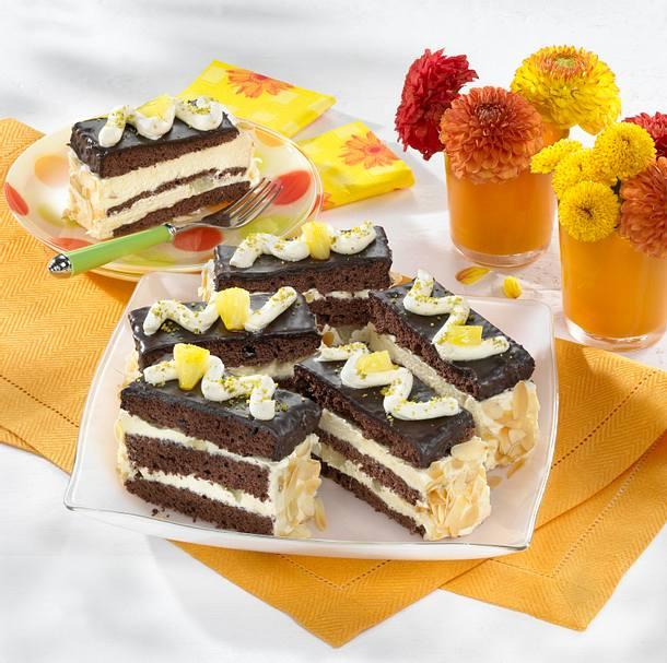 Schokoladen-Ananas-Schnitten Rezept