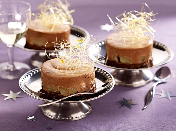 Schokoladen-Birnen-Törtchen Rezept