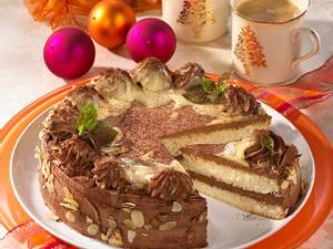 Schokoladen-Biskuittorte Rezept