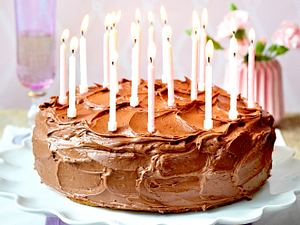 Schokoladen-Geburtstagstorte