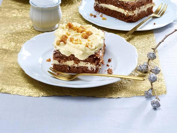 Schokoladen-Gewürzkuchen mit Honigcreme Rezept