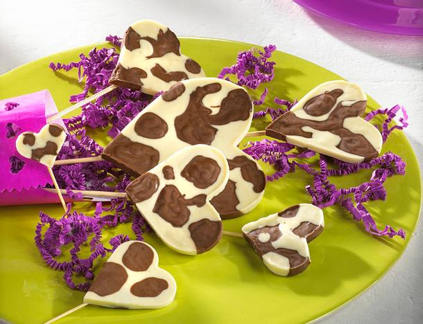 Schokoladen-Herzlollis Rezept