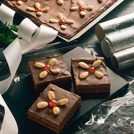 Schokoladen-Honig-Blechkuchen Rezept