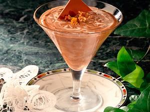 Schokoladen-Joghurt-Creme mit Mandelkrokant Rezept