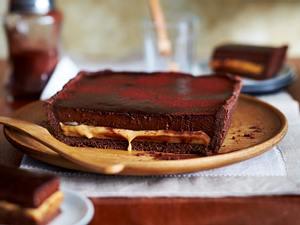 Schokoladen-Karamell-Tarte Rezept