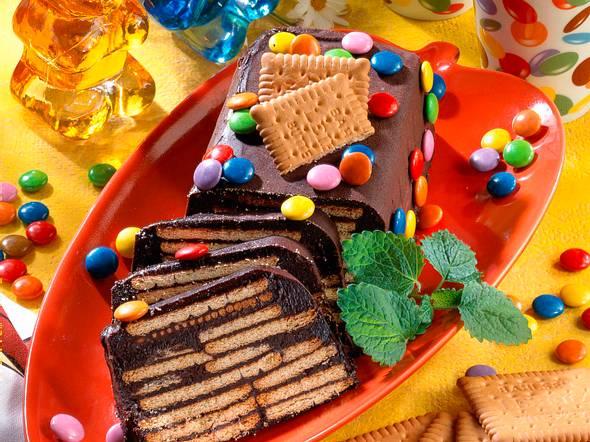 Schokoladen-Kekskuchen Rezept