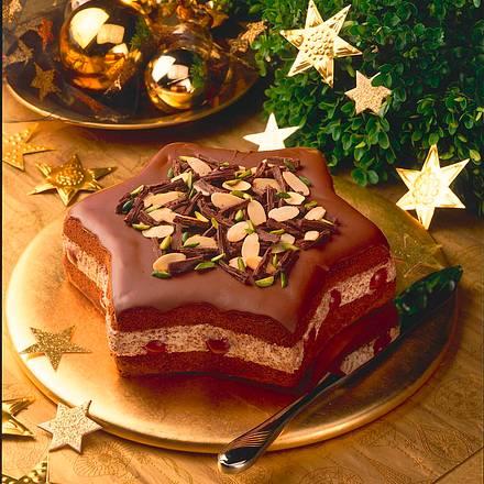 Schokoladen-Kirsch-Stern Rezept