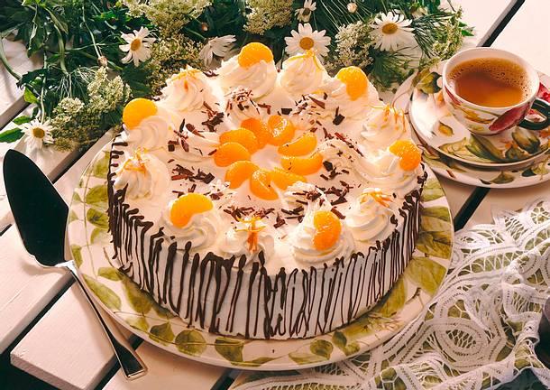 Schokoladen-Mandarinen- Torte Rezept