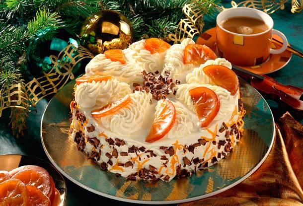 Schokoladen-Orangen-Wickeltorte Rezept