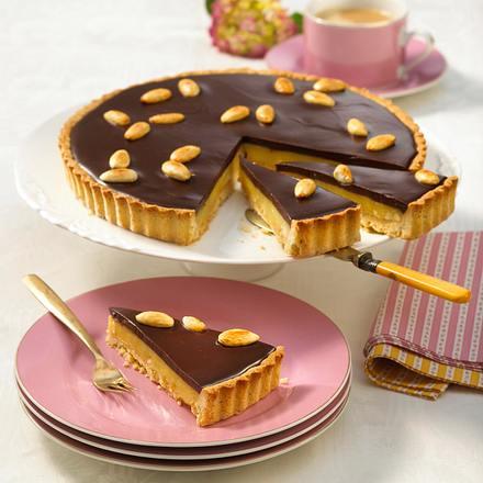 Schokoladen-Toffee-Tarte Rezept