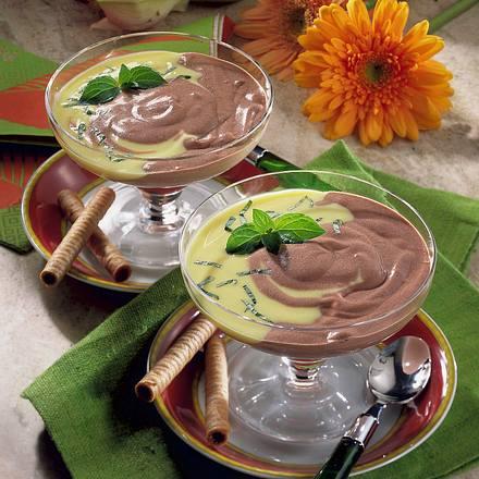 Schokoladencreme mit Vanillesoße Rezept