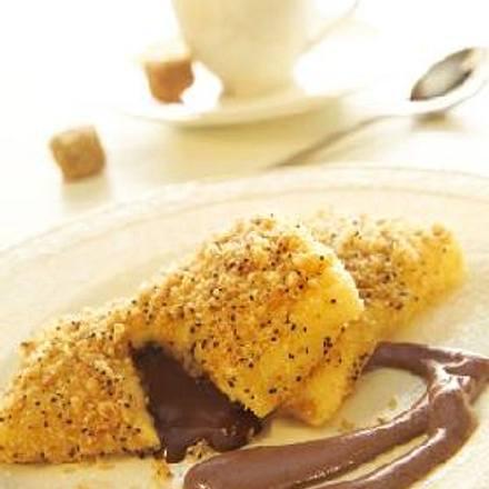 Schokoladentascherl mit Schokoladensabayon á la Johann Lafer Rezept