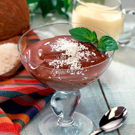Schokopudding mit Kokos-Vanillesoße Rezept