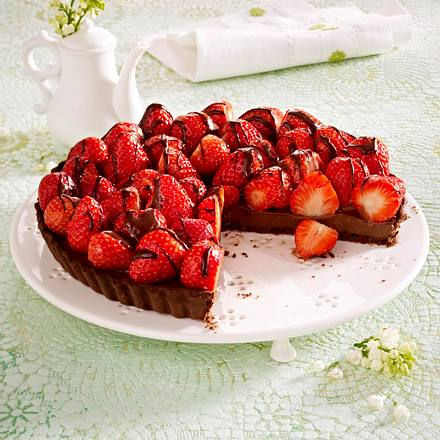Schokotarte mit Erdbeeren Rezept