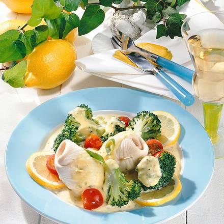 Schollenröllchen zu Broccoli Rezept
