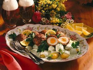 Schottische Eier mit Kräutersoße Rezept