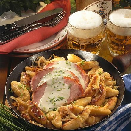 Schupfnudel-Kasseler-Pfanne Rezept