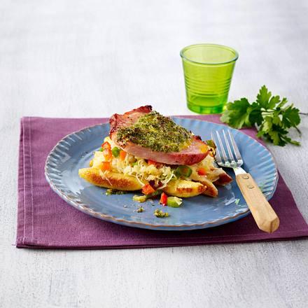 Schupfnudel-Sauerkraut-Auflauf mit Kasseler Rezept