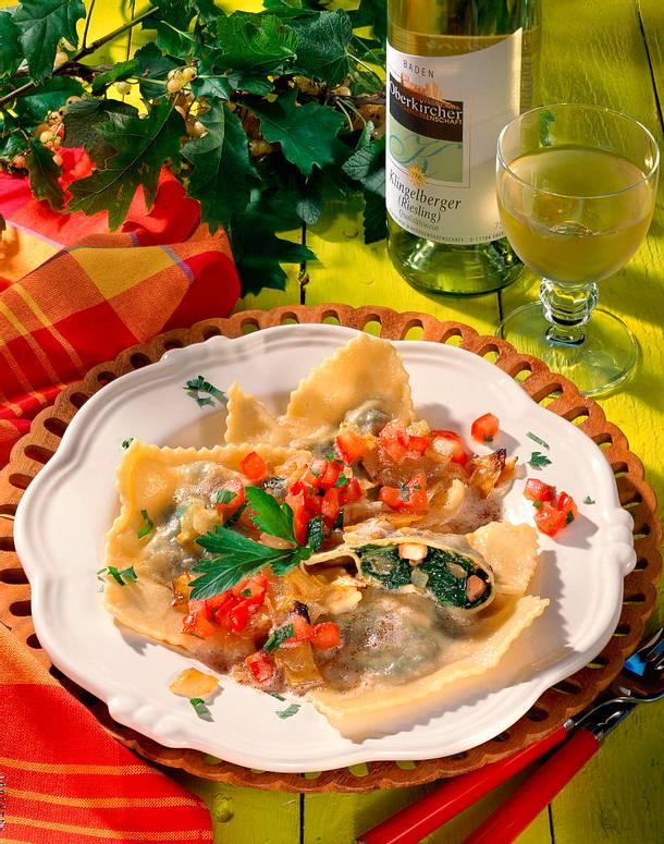 schwäbische maultaschen mit spinat rezept lecker