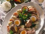 Schwalbennester auf Möhren-Kartoffel-Gemüse Rezept