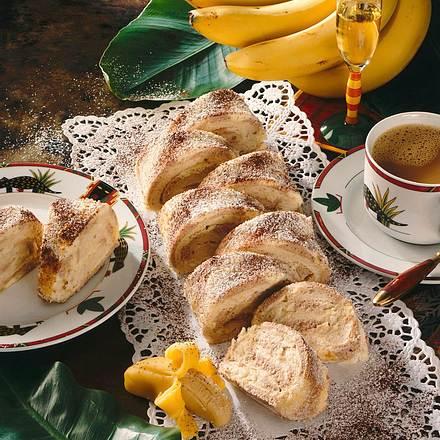 Schwarz-weiße Bananenrolle Rezept