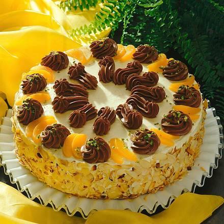 Schwarzweiße Buttercreme-Torte Rezept