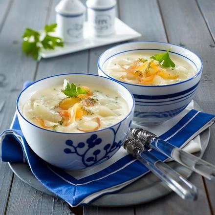Schwarzwurzel-Cremesuppe mit Lachs Rezept